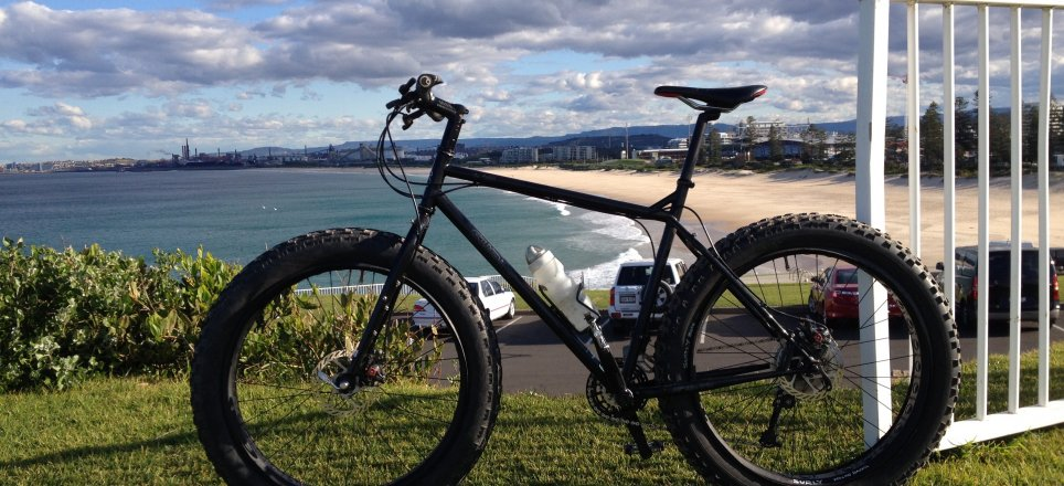 Surly Pugsley Special Ops, Flagstaff Hill, Wollongong (looking south)