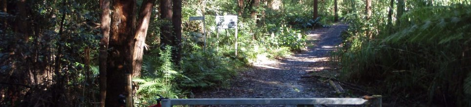 The second gate on the Illawarra Escarpment Trail, near Bulli Pass hairpin